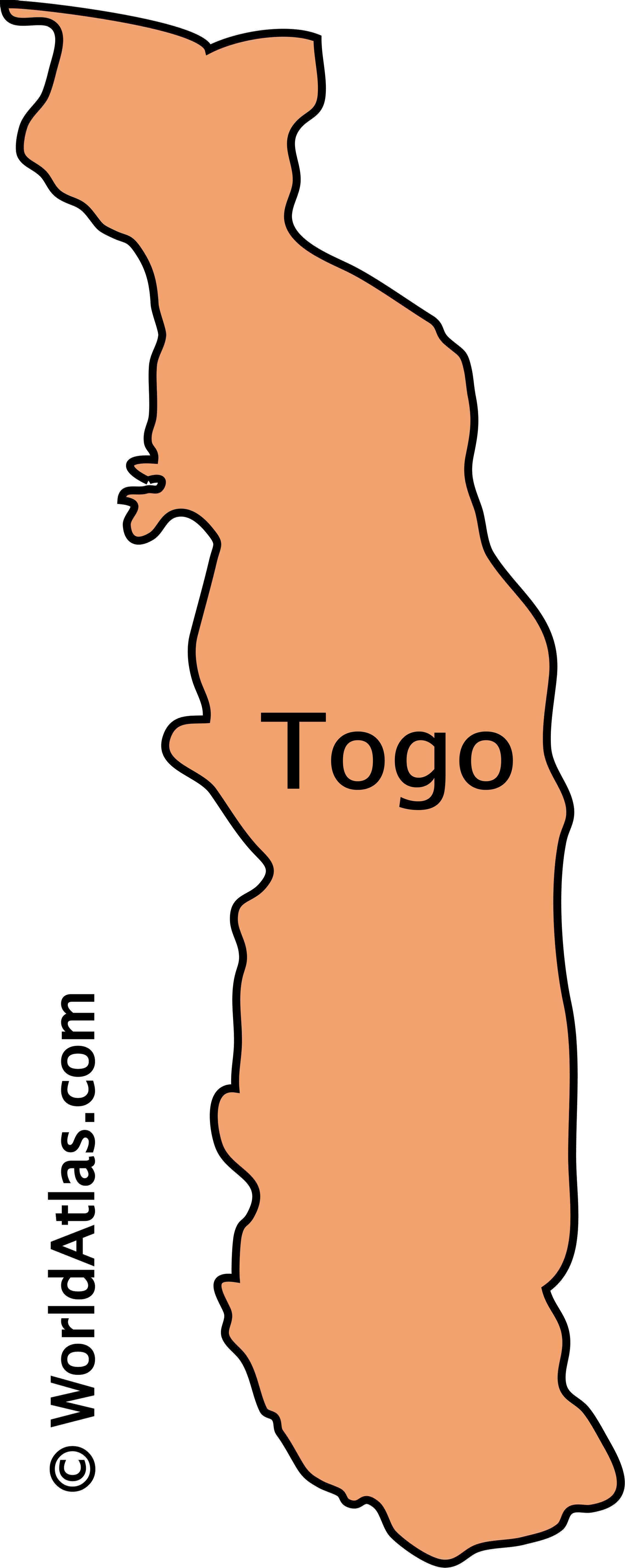 Outline Map of Togo
