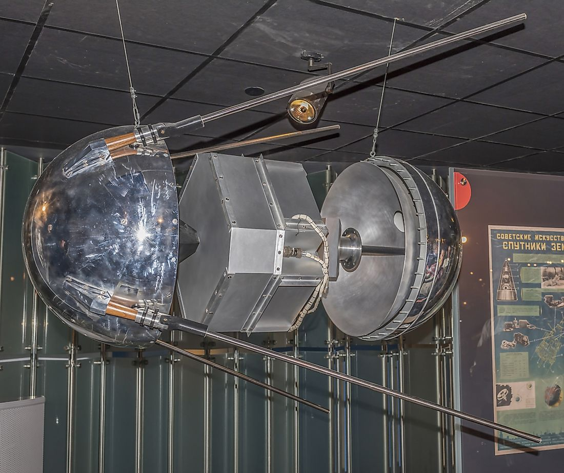 Sputnik 1 remained in space for a period of three months. Editorial credit: Aleks49 / Shutterstock.com