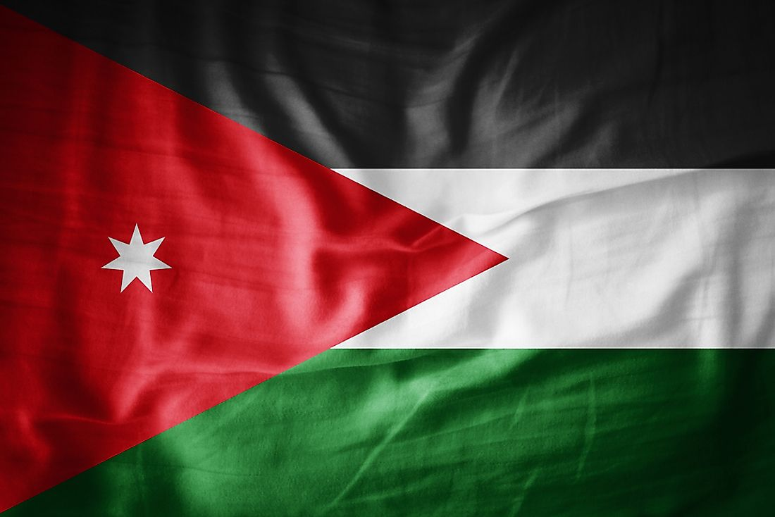 The flag of Jordan.