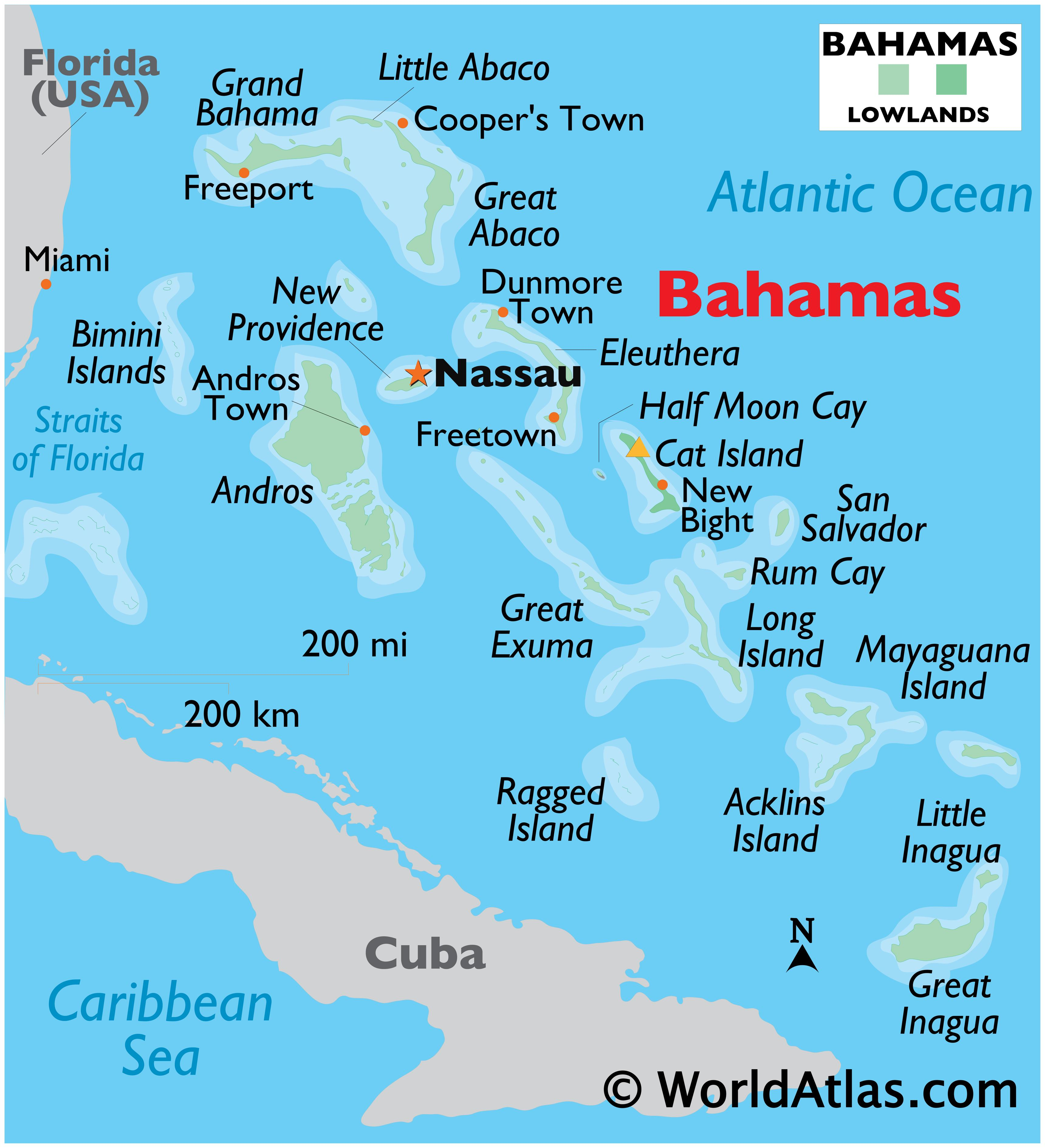 Picture of: The Bahamas Maps Facts World Atlas