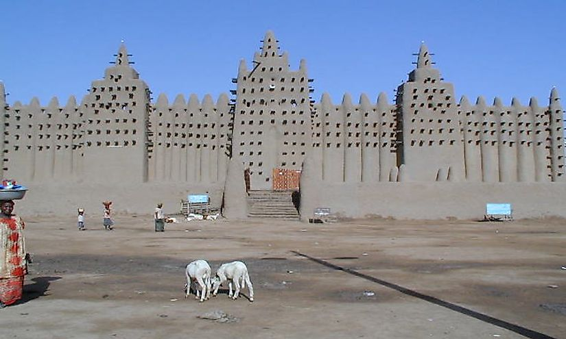 The Great Mosque of Djenné in Mali.