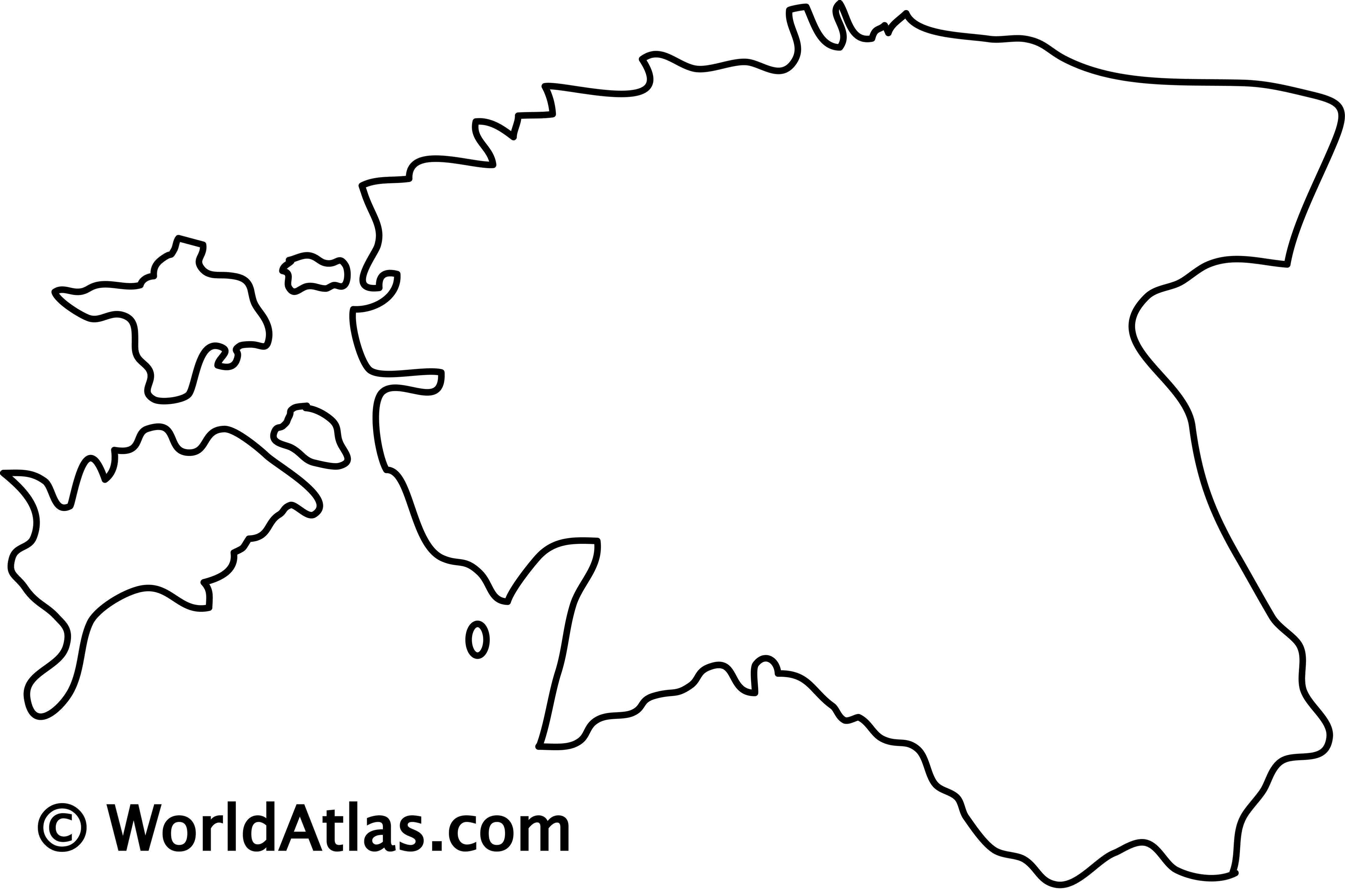Blank outline map of Estonia