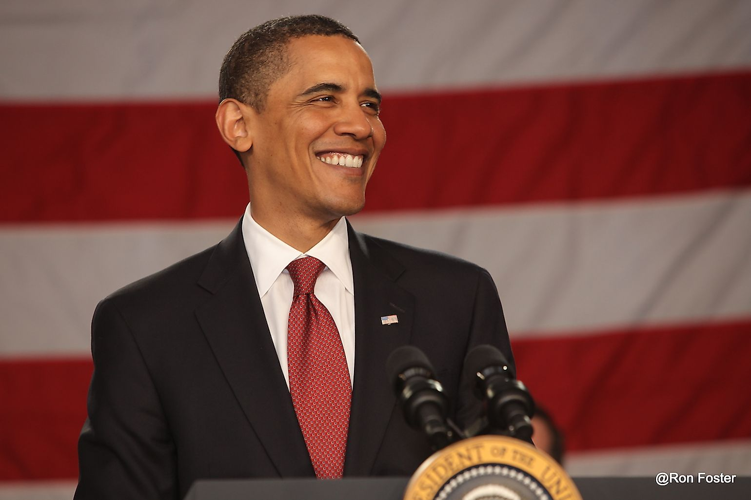 President Obama appeared in downtown Indianapolis, Indiana on May 17, 2009. Image credit: Ron Foster Sharif/Shutterstock.com