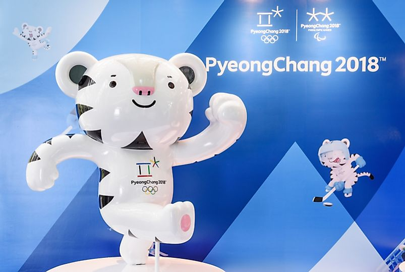 The 2018 Winter Olympic Games will be held in PyeongChang, South Korea. Editorial credit: Efired / Shutterstock.com