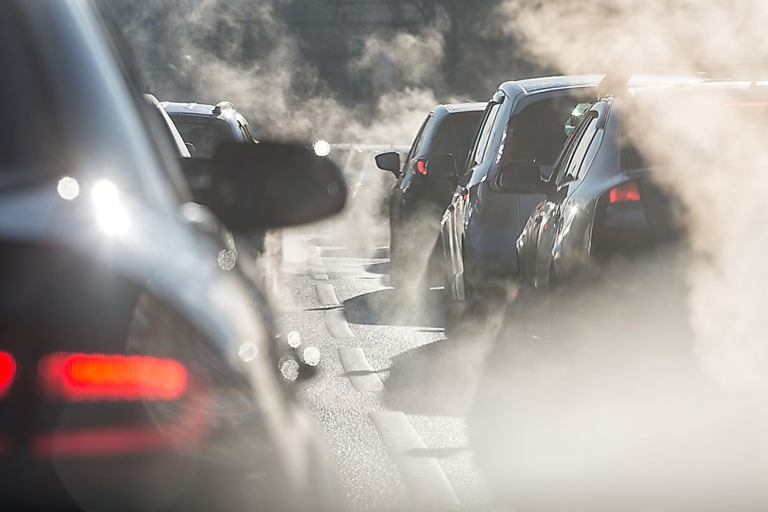Motor vehicle emissions are a type of primary pollutant.