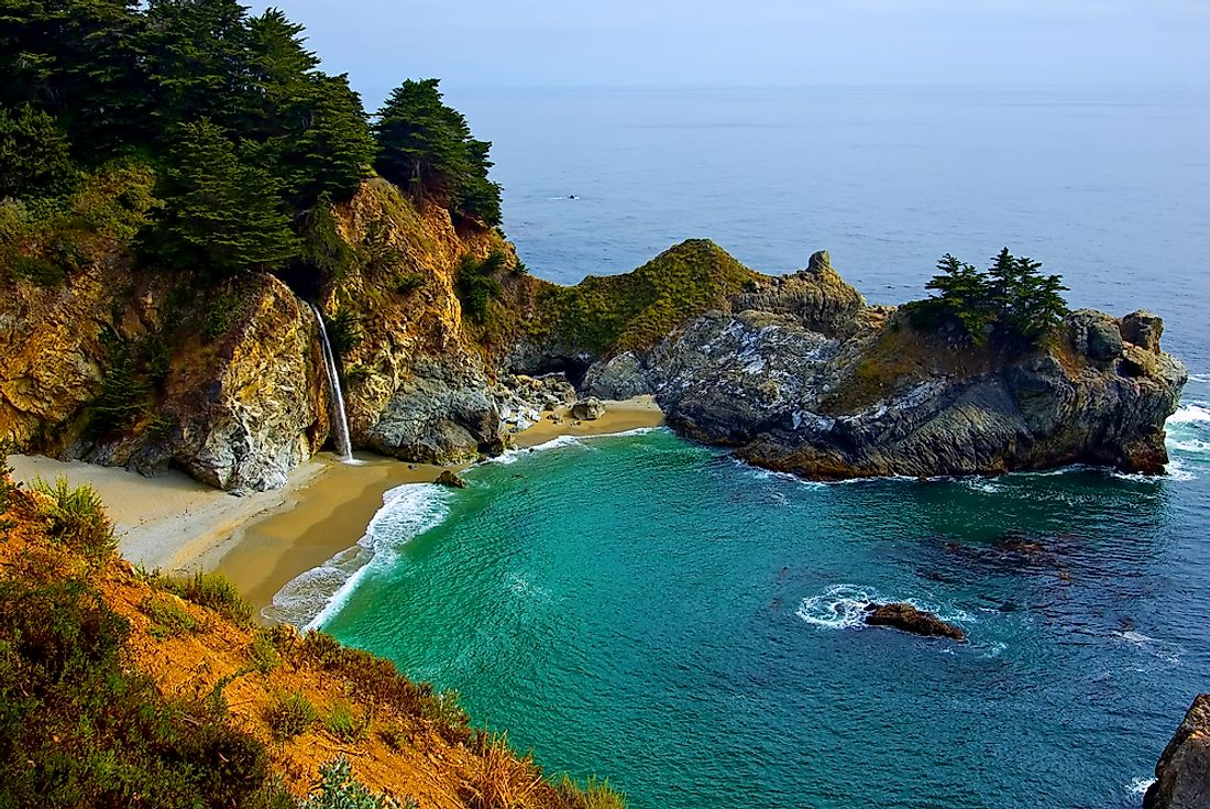 McWay Falls on the coast of Big Sur, California.