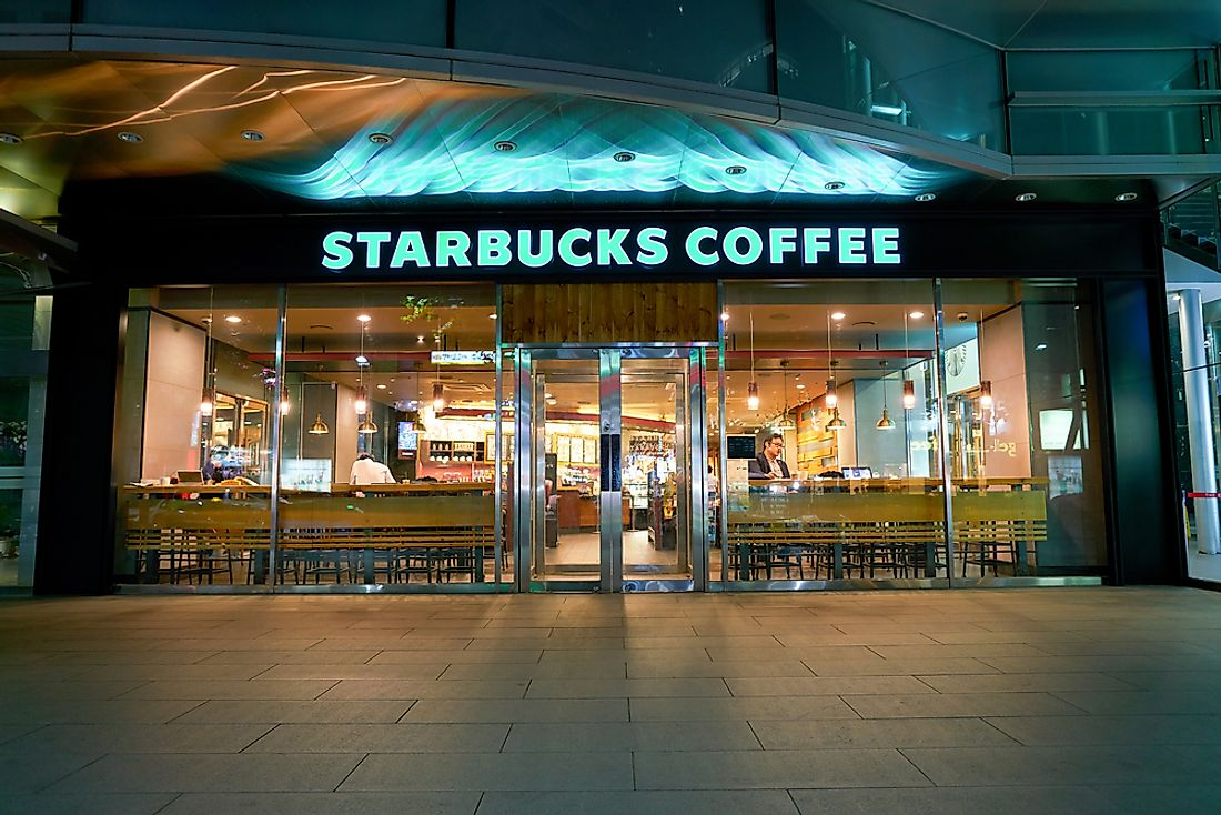 A Starbucks location in Seoul, South Korea. Editorial credit: Sorbis / Shutterstock.com.
