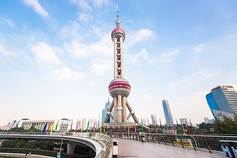 #5 Oriental Pearl Television Tower, China - 1,535 Feet