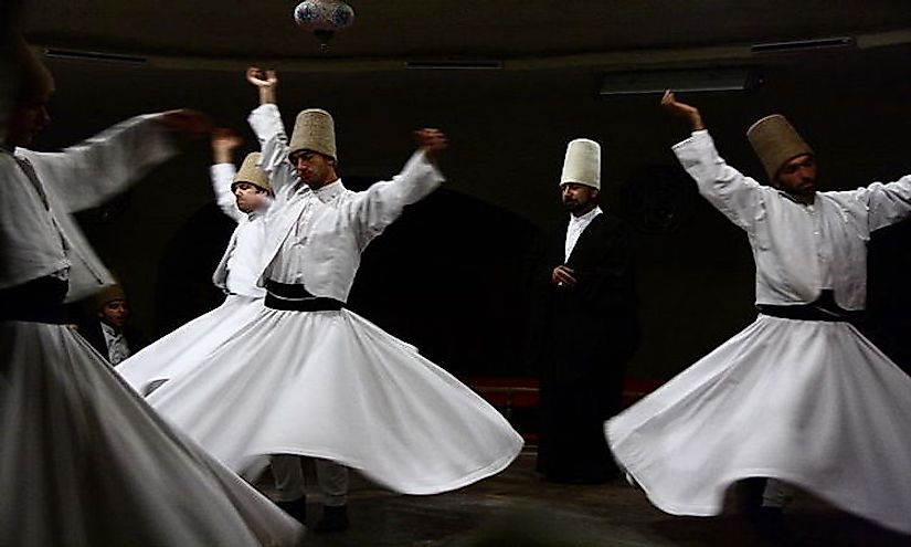 Semâ ceremony at the Dervishes Culture Center at Avanos, Turkey.