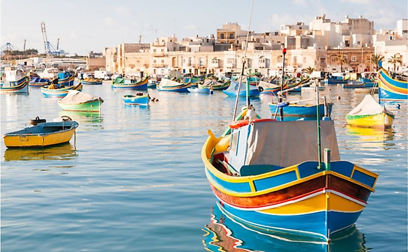 A fishing village in the south east of Malta.