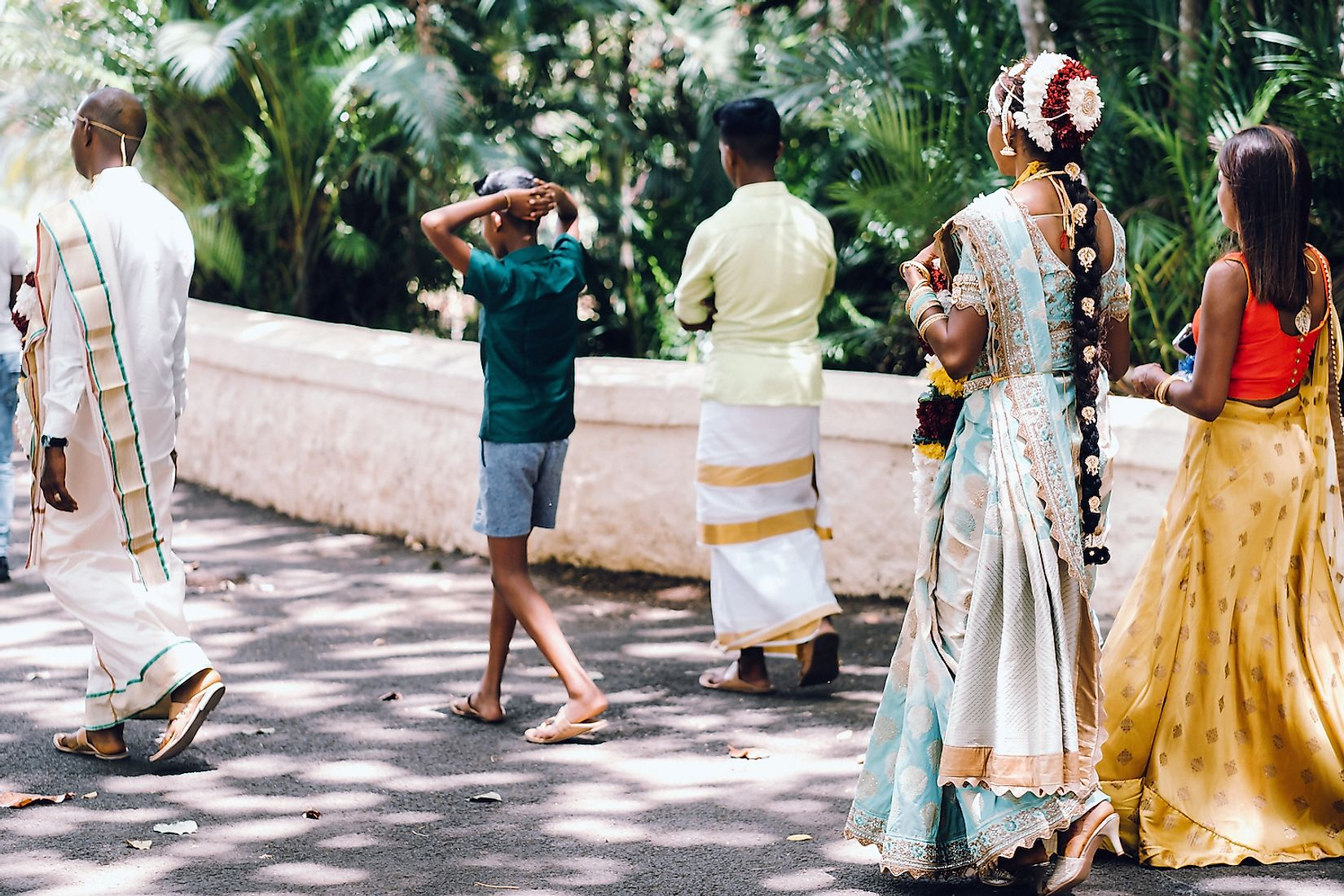 A traditional wedding of local Indian-origin people in Mauritius. Image credit: Lobachad/Shutterstock.com