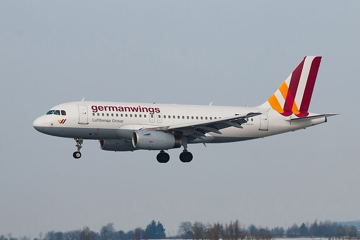 A Germanwings aircraft. Editorial credit: Rebius / Shutterstock.com.
