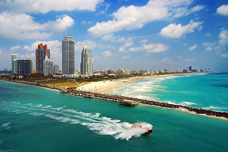 Miami's world famous beaches and crystalline waters beckon to residents and visitors alike in the hottest U.S. city.
