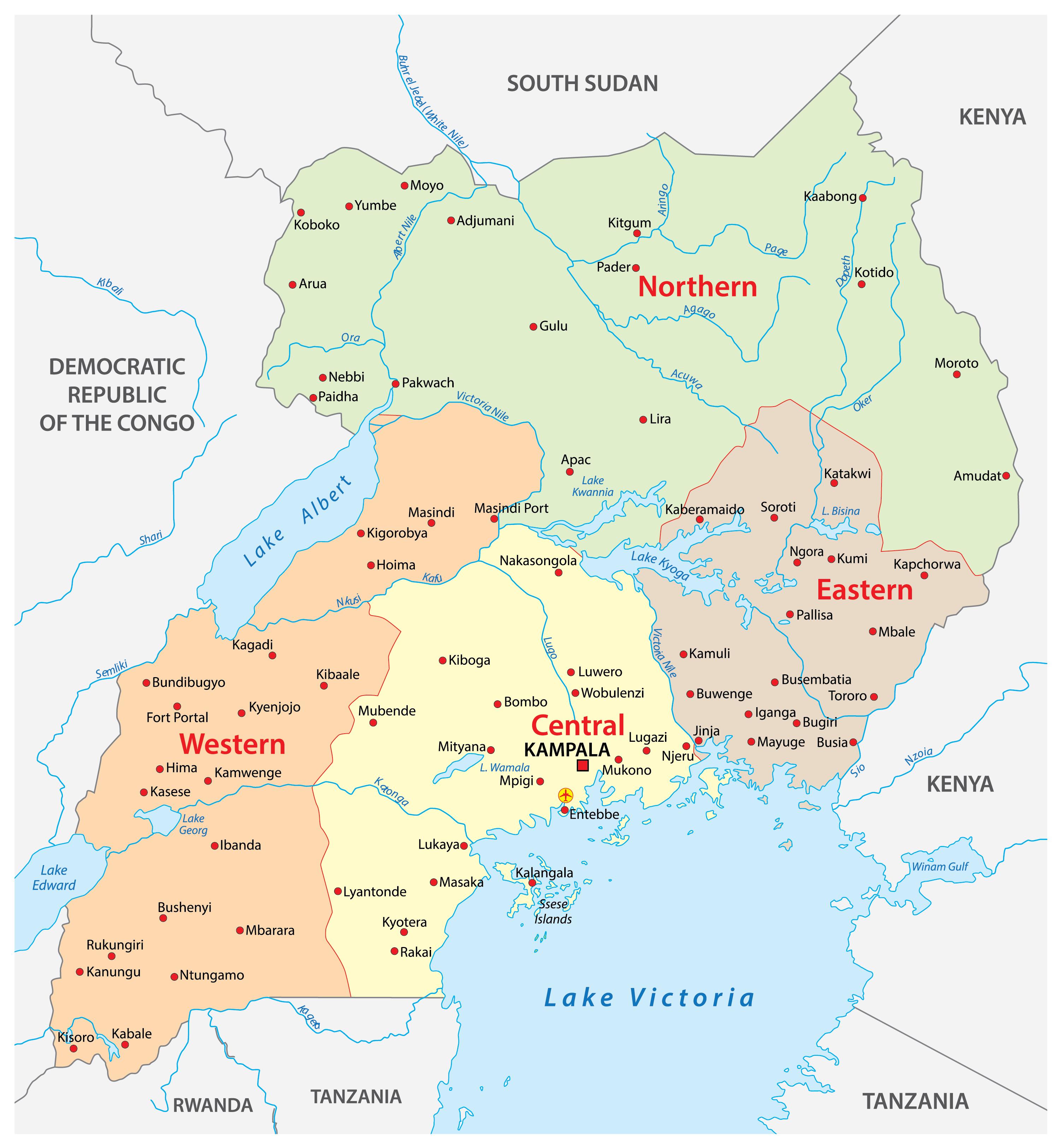 Image of: Uganda Maps Facts World Atlas