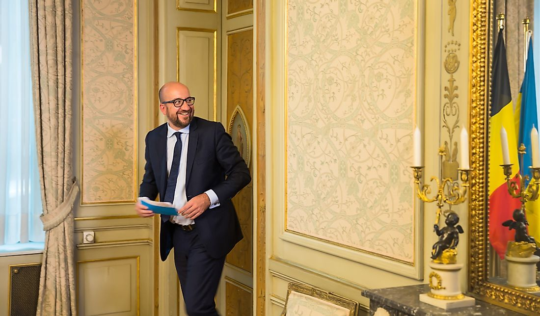 Charles Michel, prime minister of Belgium. Editorial credit: Drop of Light / Shutterstock.com.