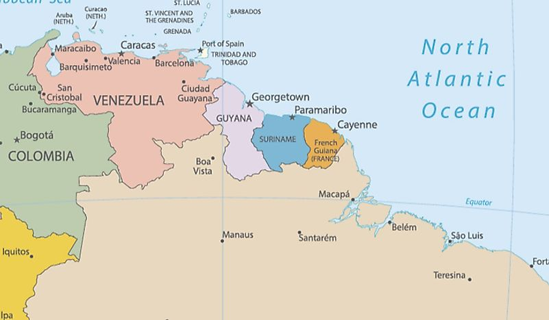 Map Of France South.French Speaking Countries In South America Worldatlas Com