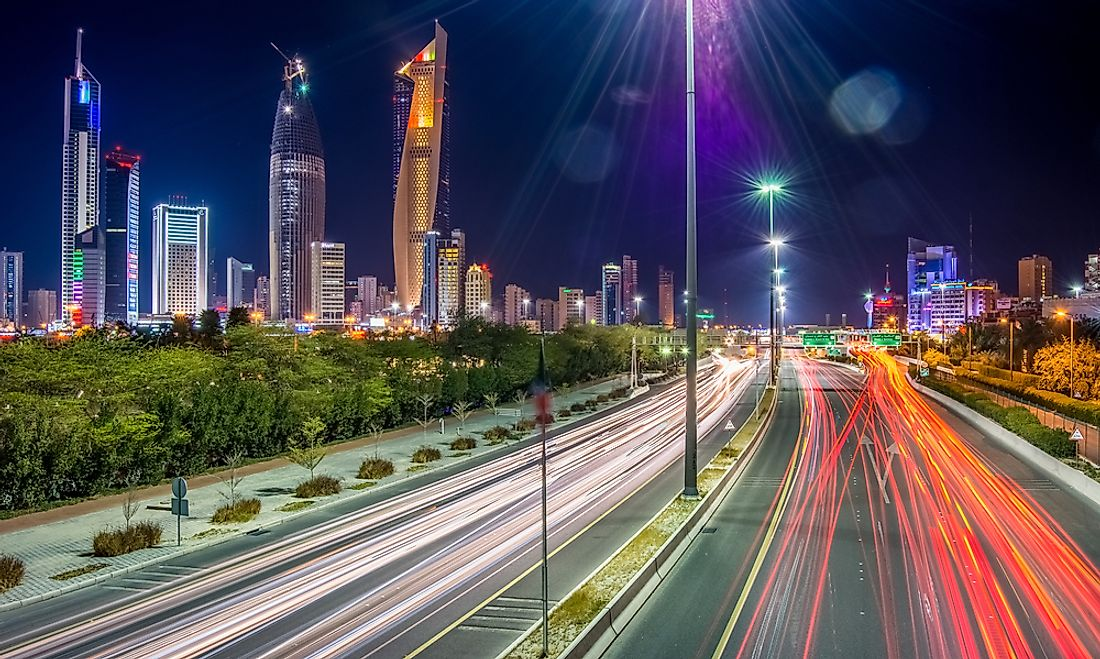 Kuwait's transport system is highly dominated by roads.