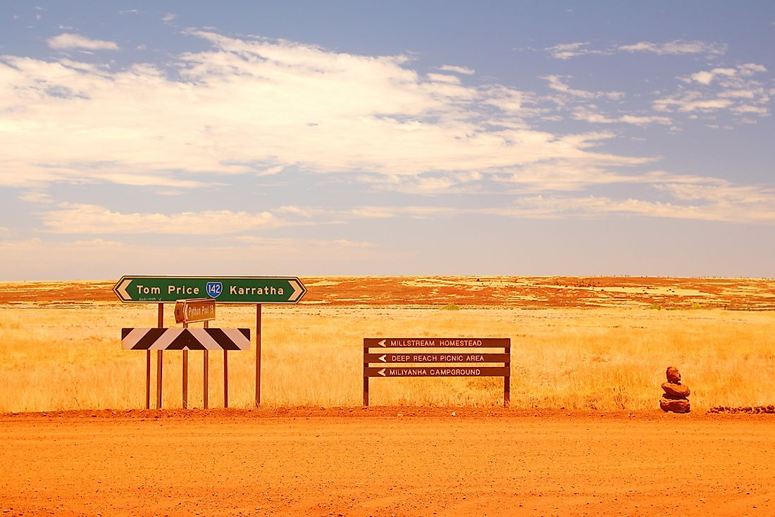 The flat Australian outback.