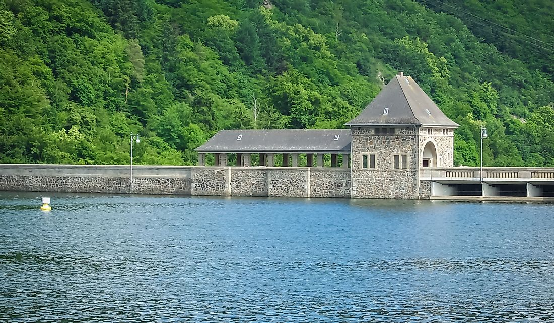 The Edersee Dam in Germany.