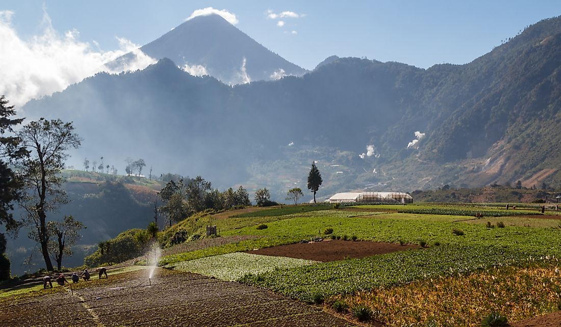 Arable land for agriculture is one of Guatemala's crucial resources.