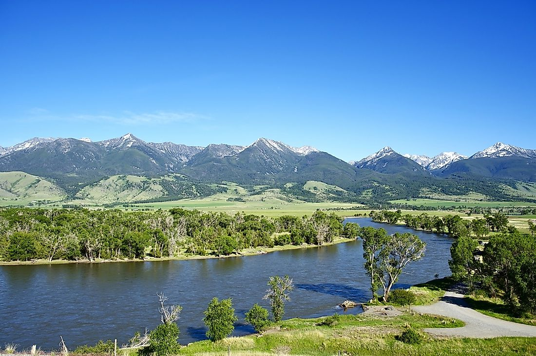The Yellowstone River in Montana.