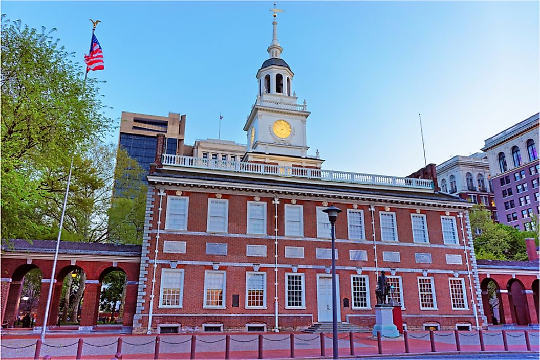 The US Constitution and Declaration of Independence were signed at Independence Hall in Philadelphia on July 4, 1776.