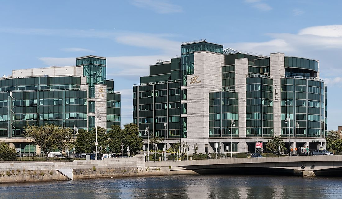 The International Financial Service Center in Dublin, Ireland. Editorial credit: shutterupeire / Shutterstock.com