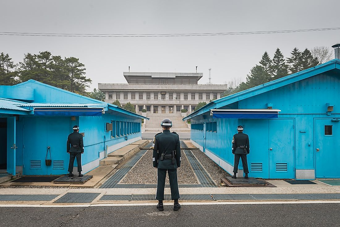 The DMZ at the border between North and South Korea. Editorial credit: Joshua Davenport / Shutterstock.com.