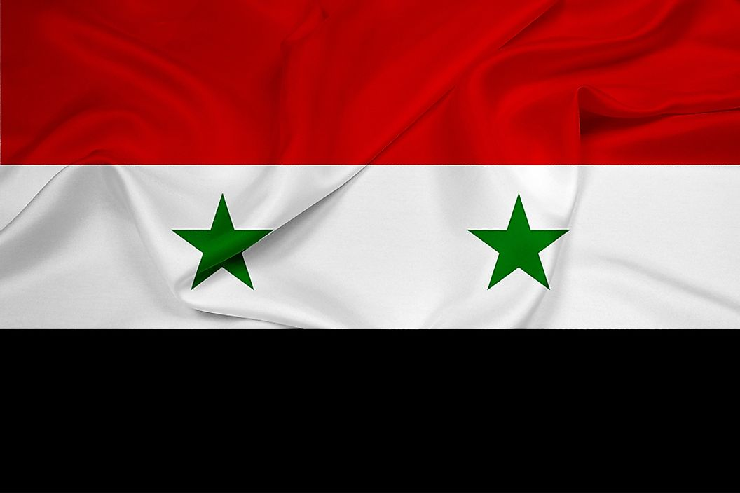 The flag of Syria.