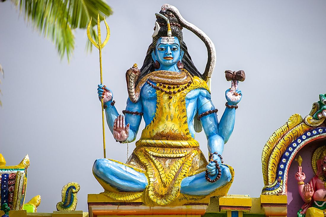 Shiva, one of the main gods in hinduism.