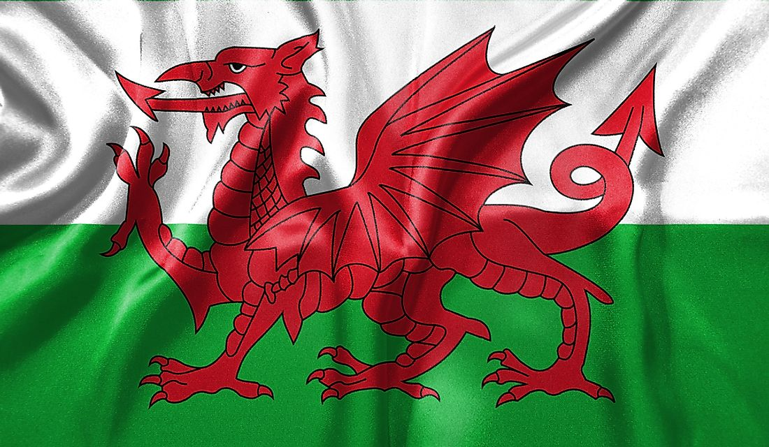The flag of Wales.