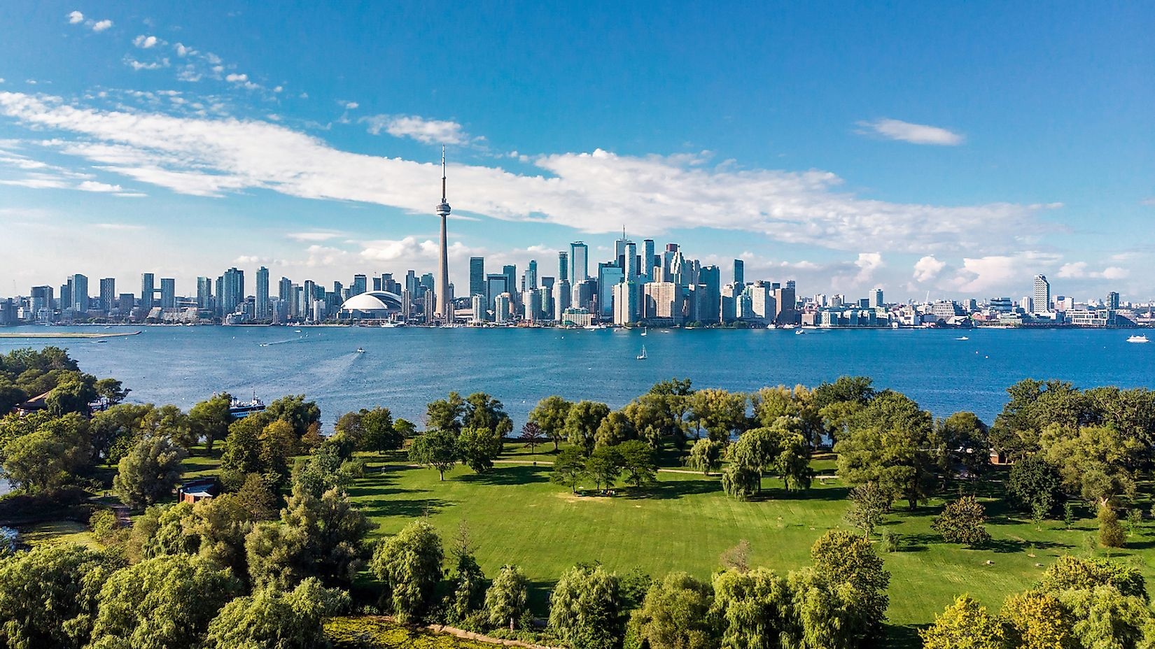 Skyline of Toronto, Canada along the shores of Lake Ontario. Image credit: R.M. Nunes/Shutterstock.com