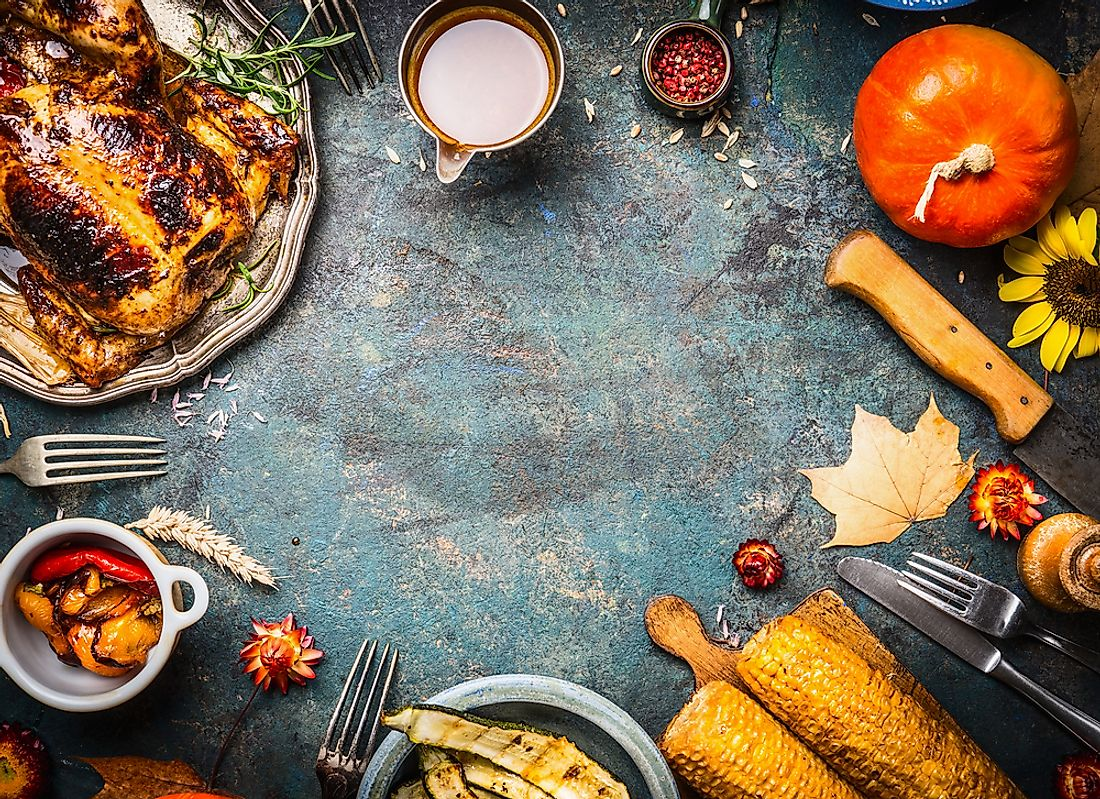 Thanksgiving often involves the preparation of seasonal vegetables.