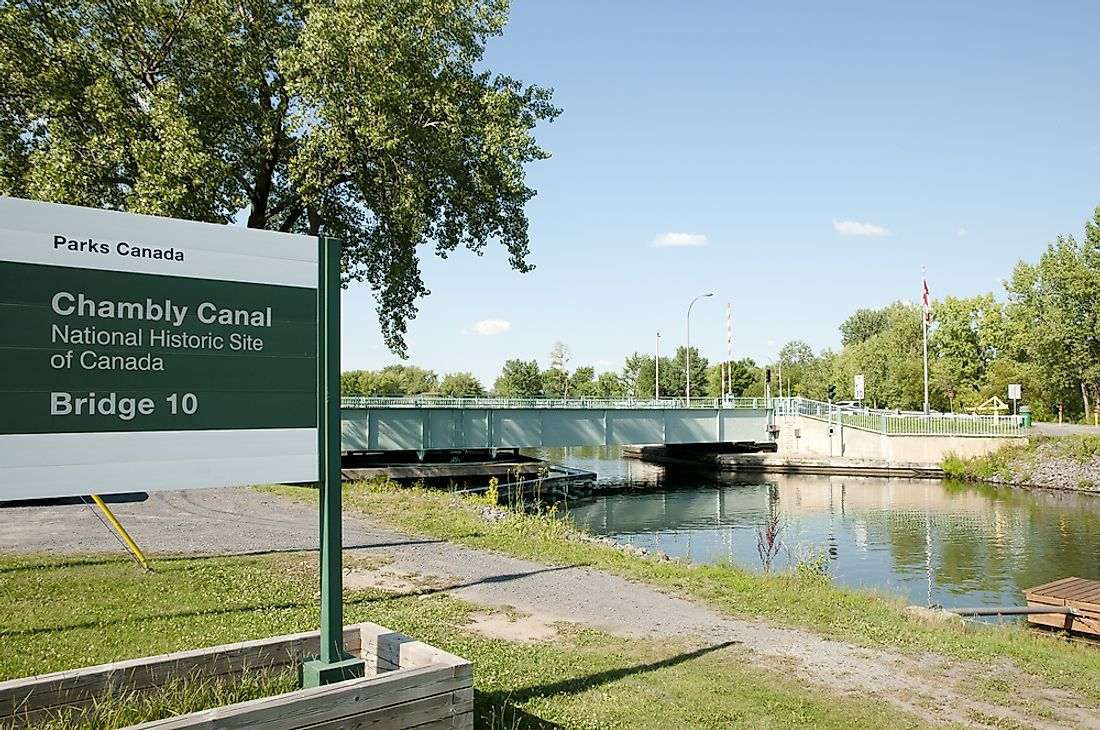 The Chambly Canal is one of the most visited Historic Sites in Canada.