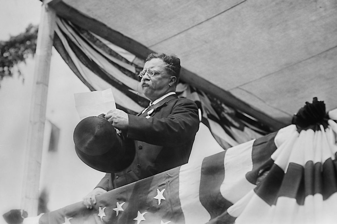 Theodore Roosevelt was the youngest president to take office. Editorial credit: Everett Historical / Shutterstock.com