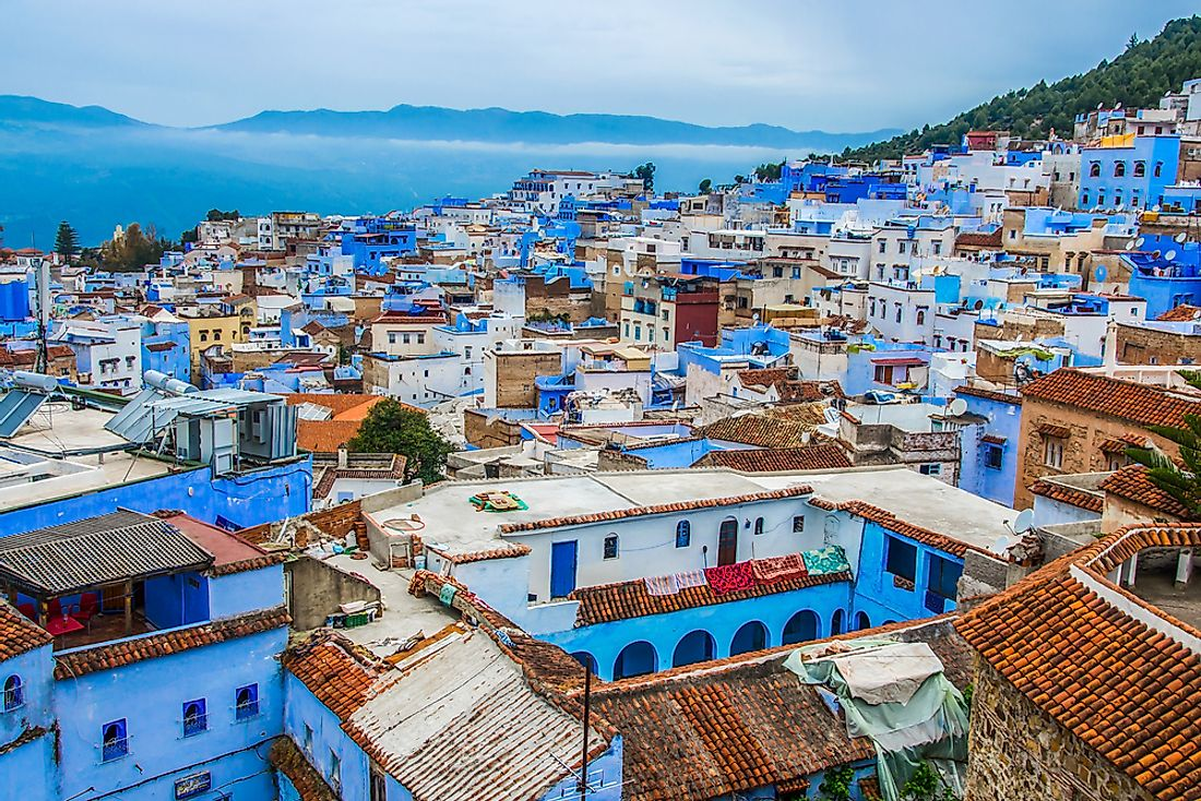 The city of Chefchaouen.