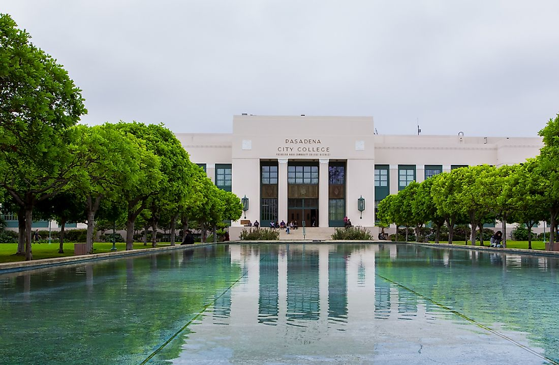 The campus of Pasadena City College, one of the colleges within California's massive community college system. Editorial credit: Ken Wolter / Shutterstock.com.
