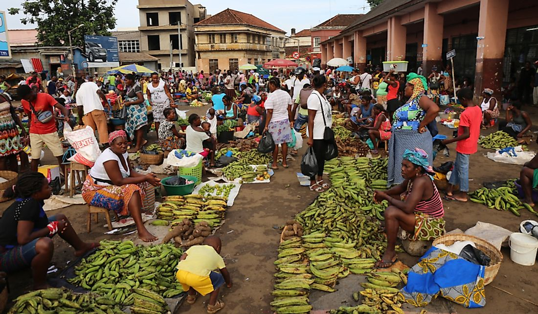 Market in Sao Tome. Editorial credit: BOULENGER Xavier / Shutterstock.com