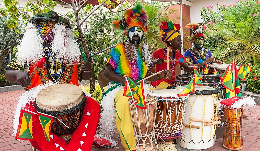 Musicians perform in St. George's, Grenada. Editorial credit: Andres Virviescas / Shutterstock.com