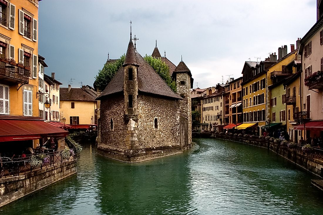 The canals of Annecy, France.