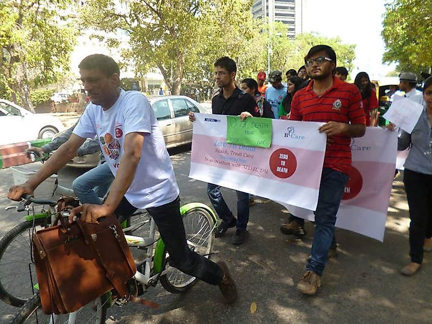 Zero TB Death Day of Action, March 2015, Delhi, India