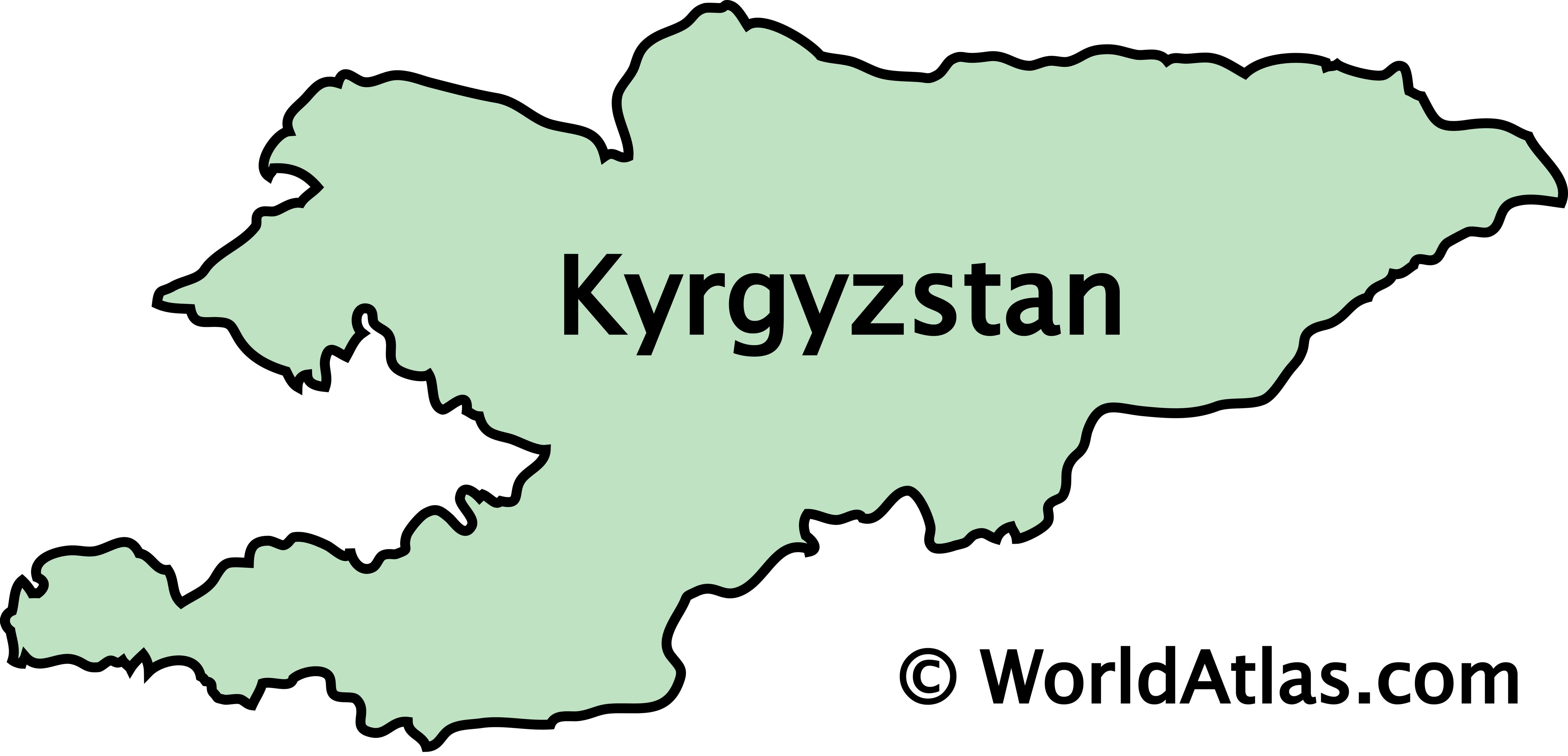 Outline Map of Kyrgyzstan