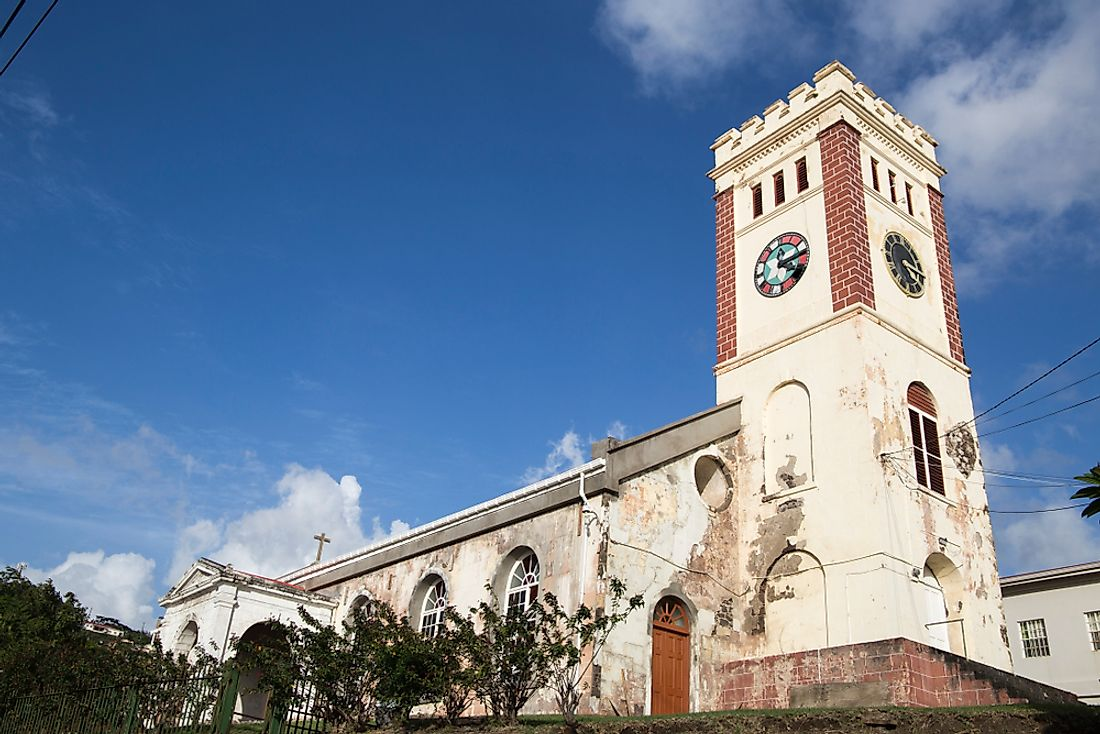 St. George's Anglican church in Grenada.