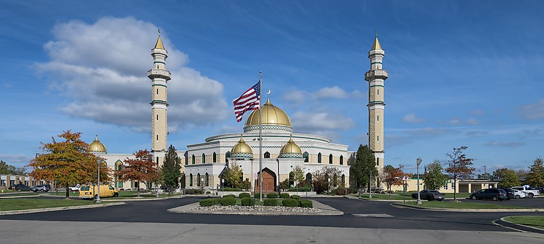 The largest mosque in the US is found in Dearborn, Michigan. Editorial credit: Nagel Photography / Shutterstock.com