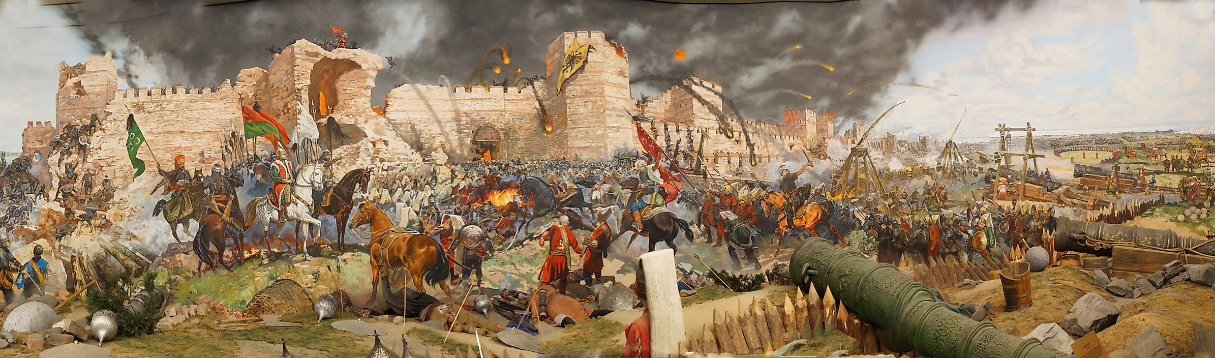 The fall of Constantinople in 1453, now present day Istanbul, Turkey, was a critical point of the Late Middle Ages.