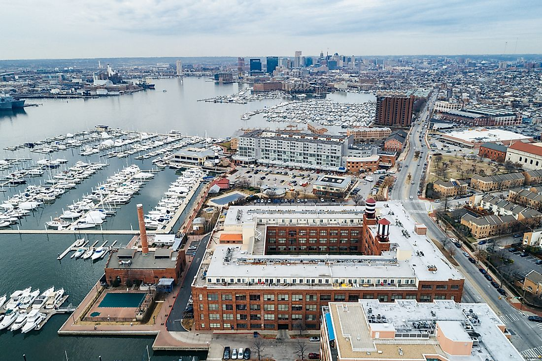The Baltimore Harbor.