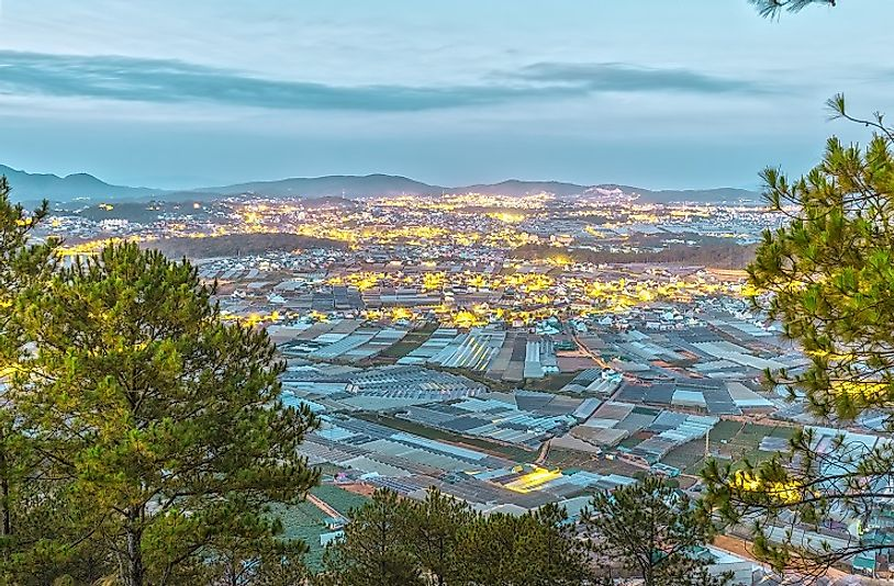 Dalat City, as seen from the highlands above.