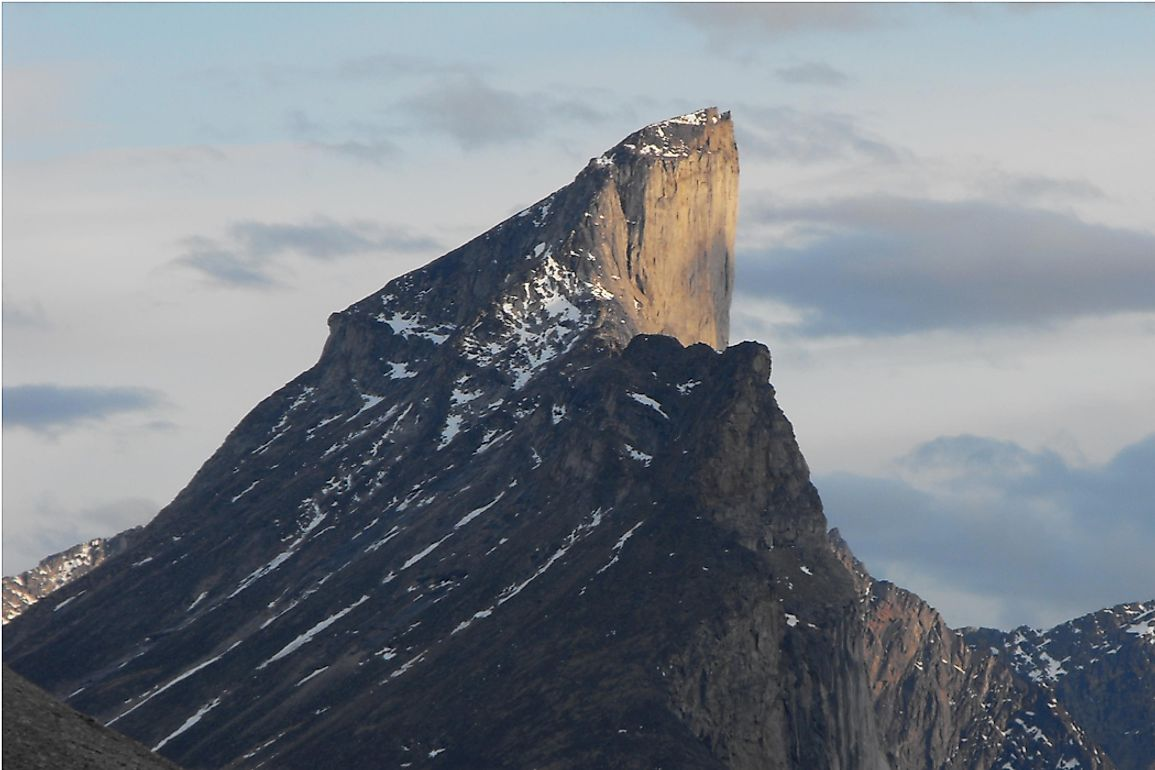Mount Thor, located on Baffin Island in Arctic Canada.