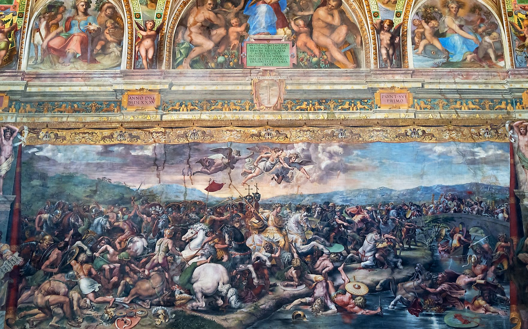 The Battle of Milvian Bridge in the Vatican museum.  Viacheslav Lopatin / Shutterstock.com.