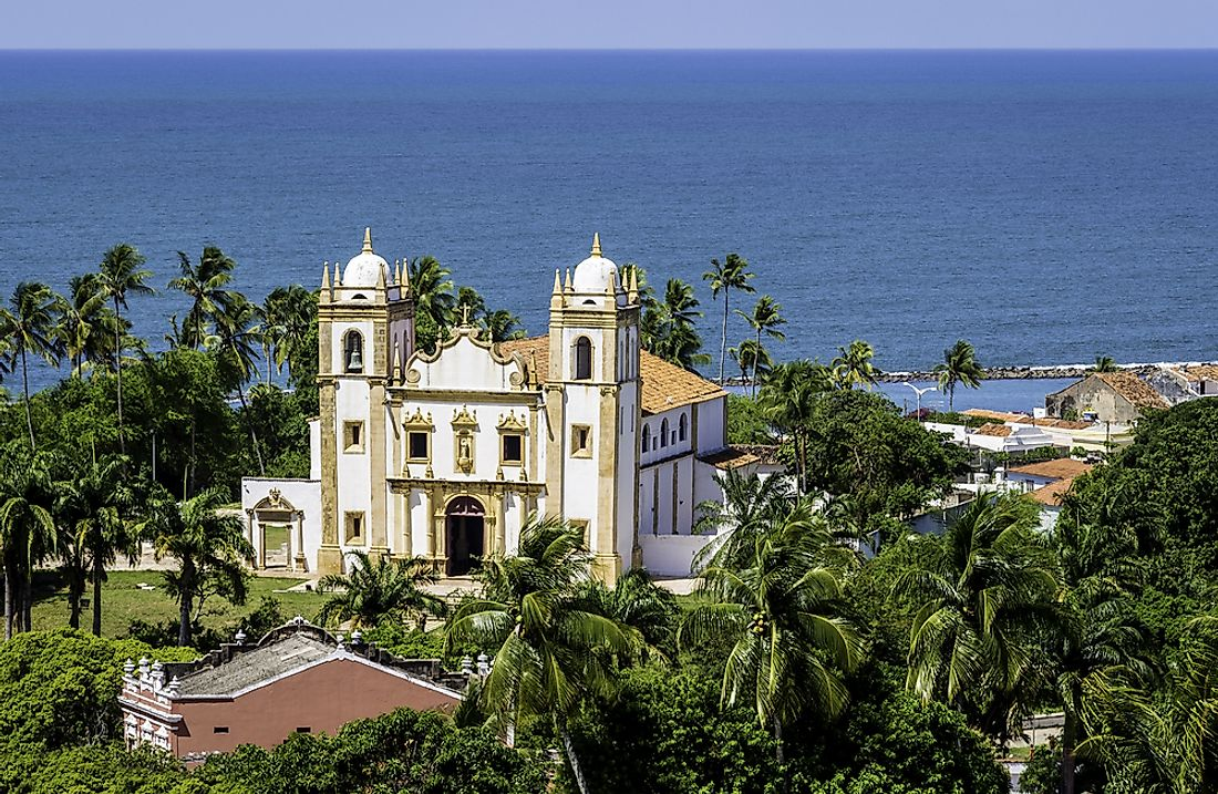 A Catholic Church in Olinda, Brazil.